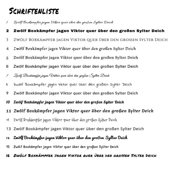 Schrifliste