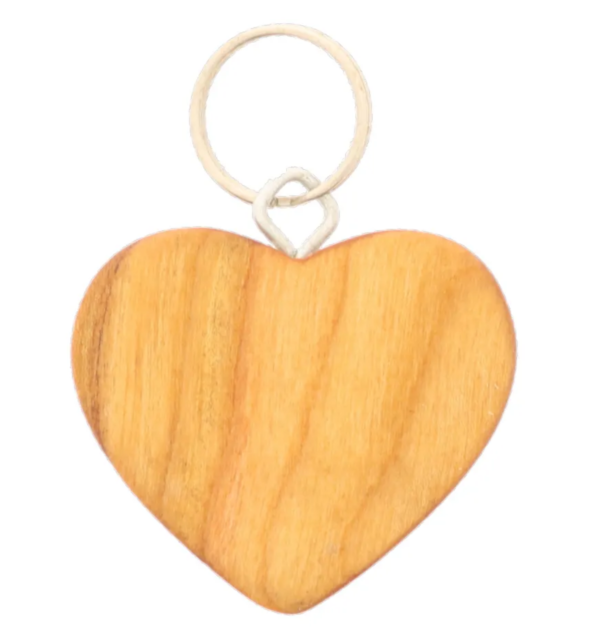 Schlüsselanhänger Herz Holz